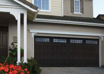 Highland Recessed Panel with Stockton Windows in Black