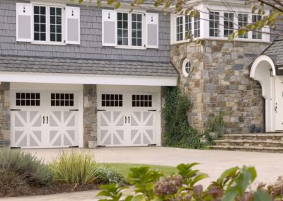 Cambridge Sheffield Design with Madeira Windows and Blue Ridge Decorative Hardware in Gray/White